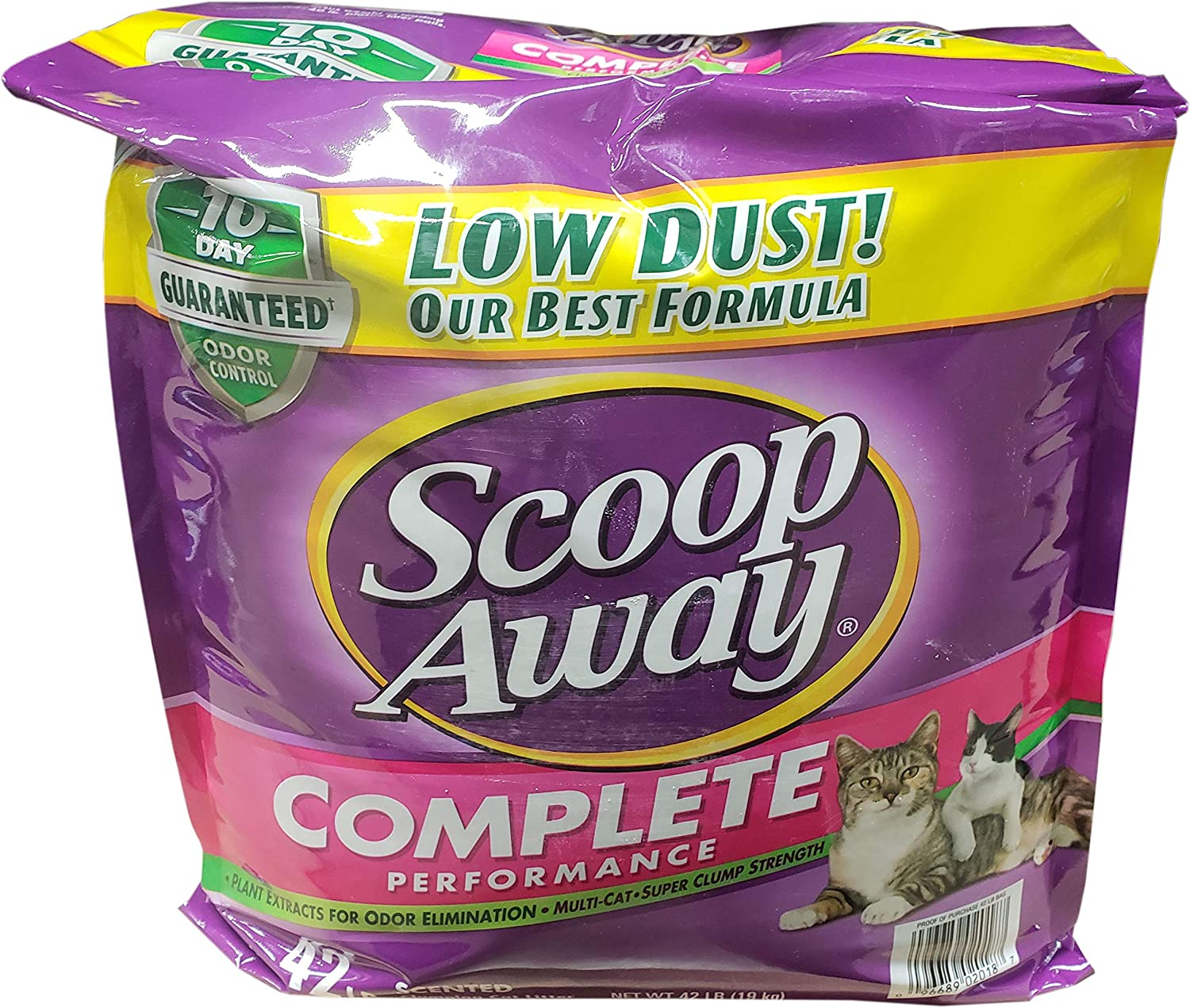 Scoop Away Complete Performance Scented Cat Litter 42 Pounds