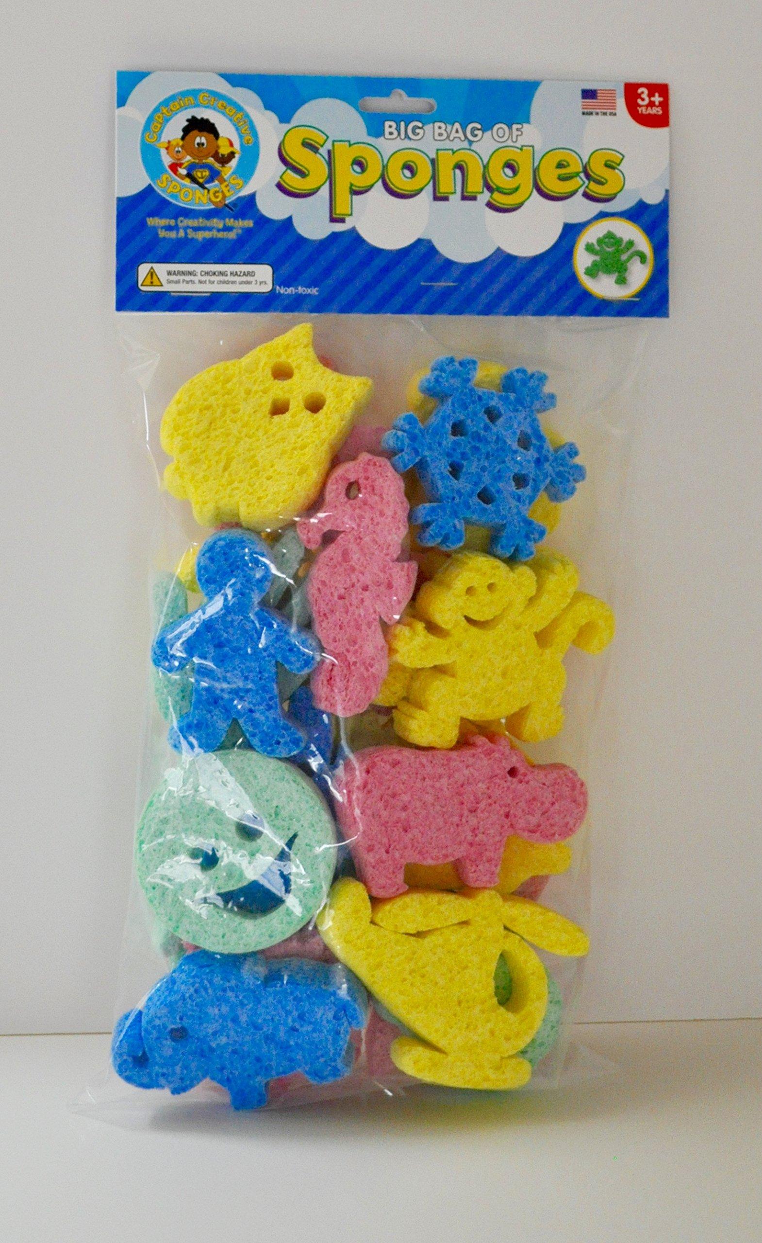 Big Bag of Sponges for Sponge Painting 20 in package