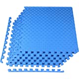 BalanceFrom Puzzle Exercise Mat with EVA Foam Interlocking Tiles for MMA, Exercise, Gymnastics and Home Gym Protective…