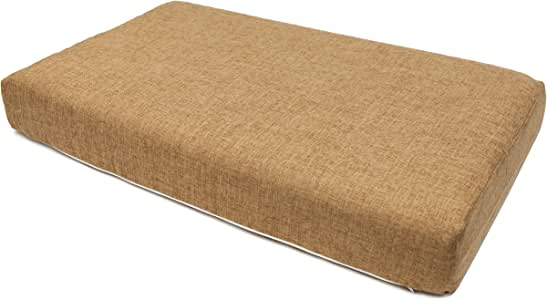 PETIQUE Hemp Eco-Friendly Mattress Cover for Pet Bed, Brown, Large