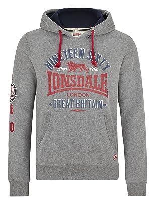 Lonsdale Sweatshirt Worcester-Sudadera Hombre Gris Jaspeado XXS: Amazon.es: Ropa y accesorios