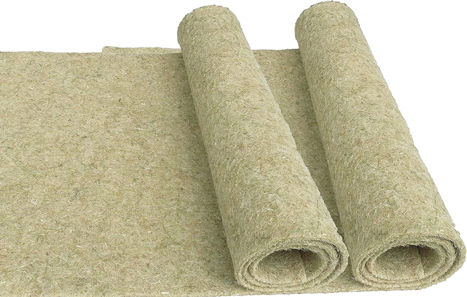 100% Hemp Rodent Mat, 120 x 60 cm 5 mm Thick, Pack of 2 (€/Piece 9.95), as Rodent Mat Cage Ground Cover for Rabbits, Guinea Pigs, Hamsters, Rats, Degus and Rodents. pemmiproducts