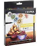 LYRA Aqua Brush Duo - Estuche 24 rotuladores artísticos de colores, tinta acuarelable y doble punta, estándar y punta pincel