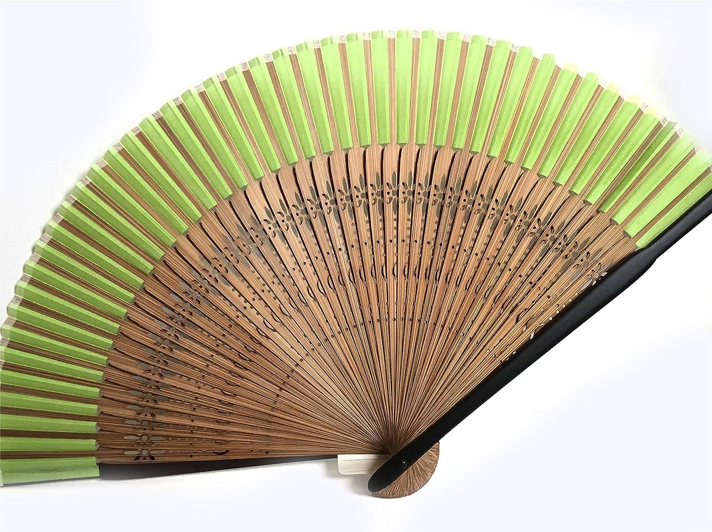 シルク扇子( edo-sensu ) グリーン