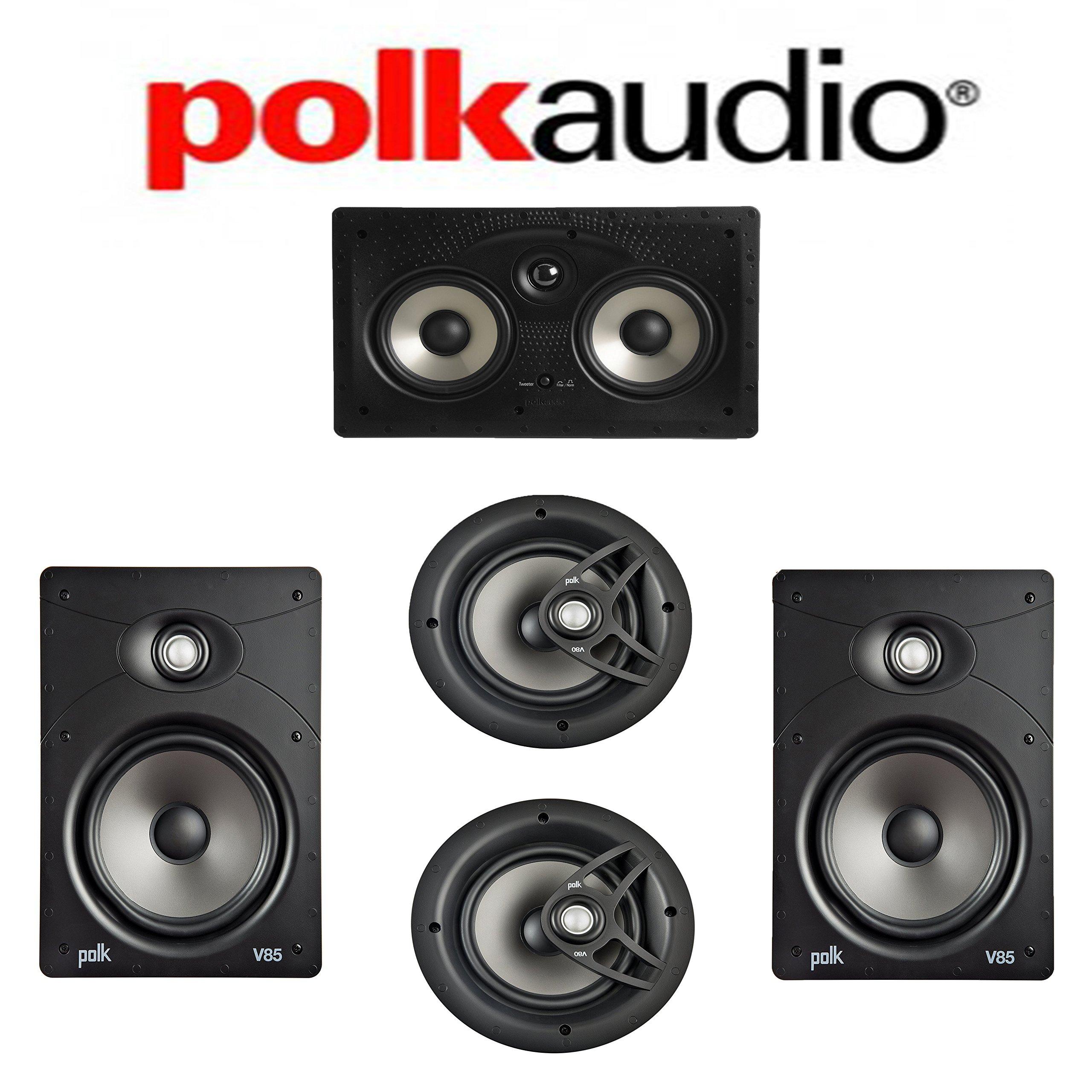 Polk Audio V85 Vanishing Series 5.0 In-Wall / In-Ceiling Home Theater System (V85 + V80 + 255C-RT)