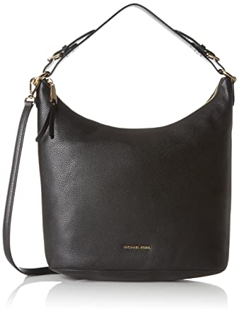 Amazon.com: MICHAEL Michael Kors Lupita Leather Large Hobo Bag , Acorn: Michael  Kors: Shoes