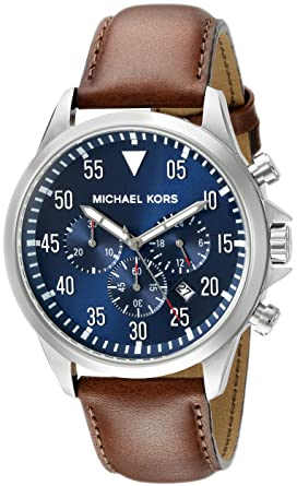 de752d0266955 Image Unavailable. Image not available for. Color  Michael Kors Men s Gage  Brown Watch MK8362