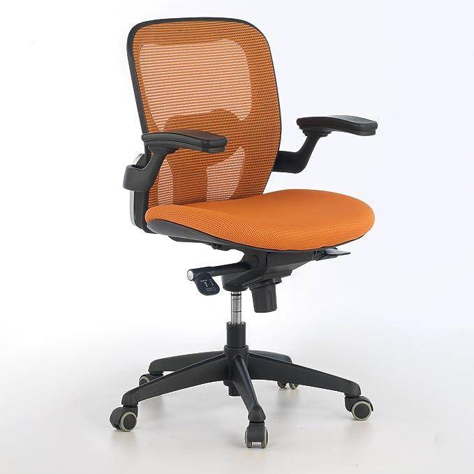 ofiprix (Gioconda Silla giratoria de Oficina Profesional, Respaldo de Malla, Color Naranja: Amazon.es: Hogar