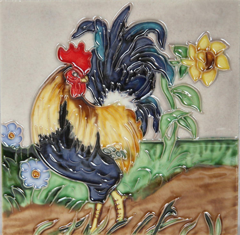 YH-Arts 6 x 15, 24 DE cerá mica diseñ o de gallos 7, 62 cm Diseñ o de baldosas 24 DE cerámica diseño de gallos 7 62 cm Diseño de baldosas 6x6-465