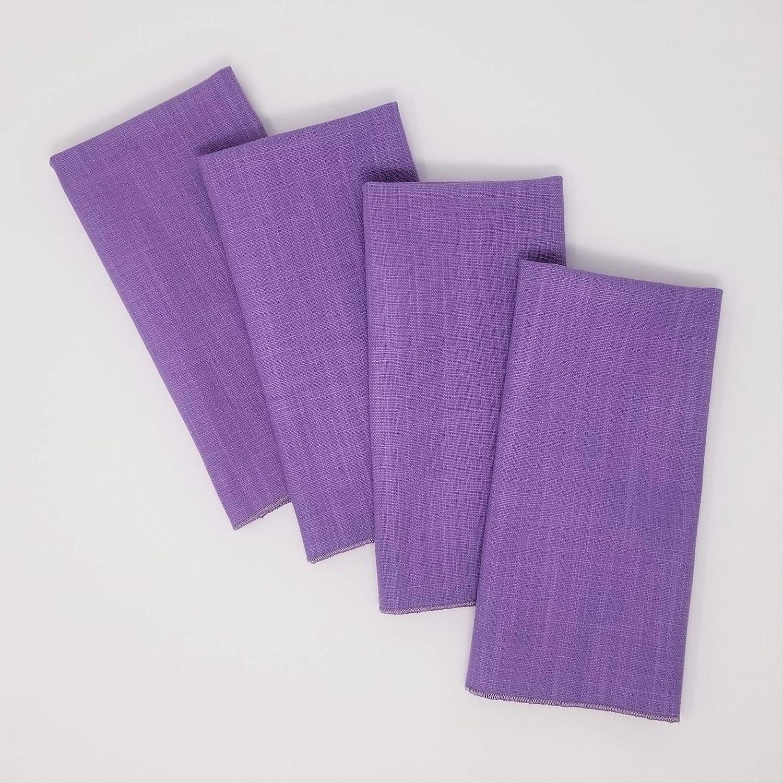 Lavender Napkins Linen Blend Set of 4