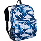 Wildkin 16 Inch Backpack, Durable Backpack with Padded Straps, Front Pocket, Moisture-Resistant Lining, and Two Mesh Side Pockets, Perfect for School or Travel – Sharks