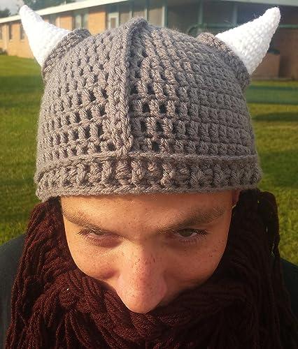 0e79334e Amazon.com: Custom Crochet Viking Beanie with Removable Beard: Handmade