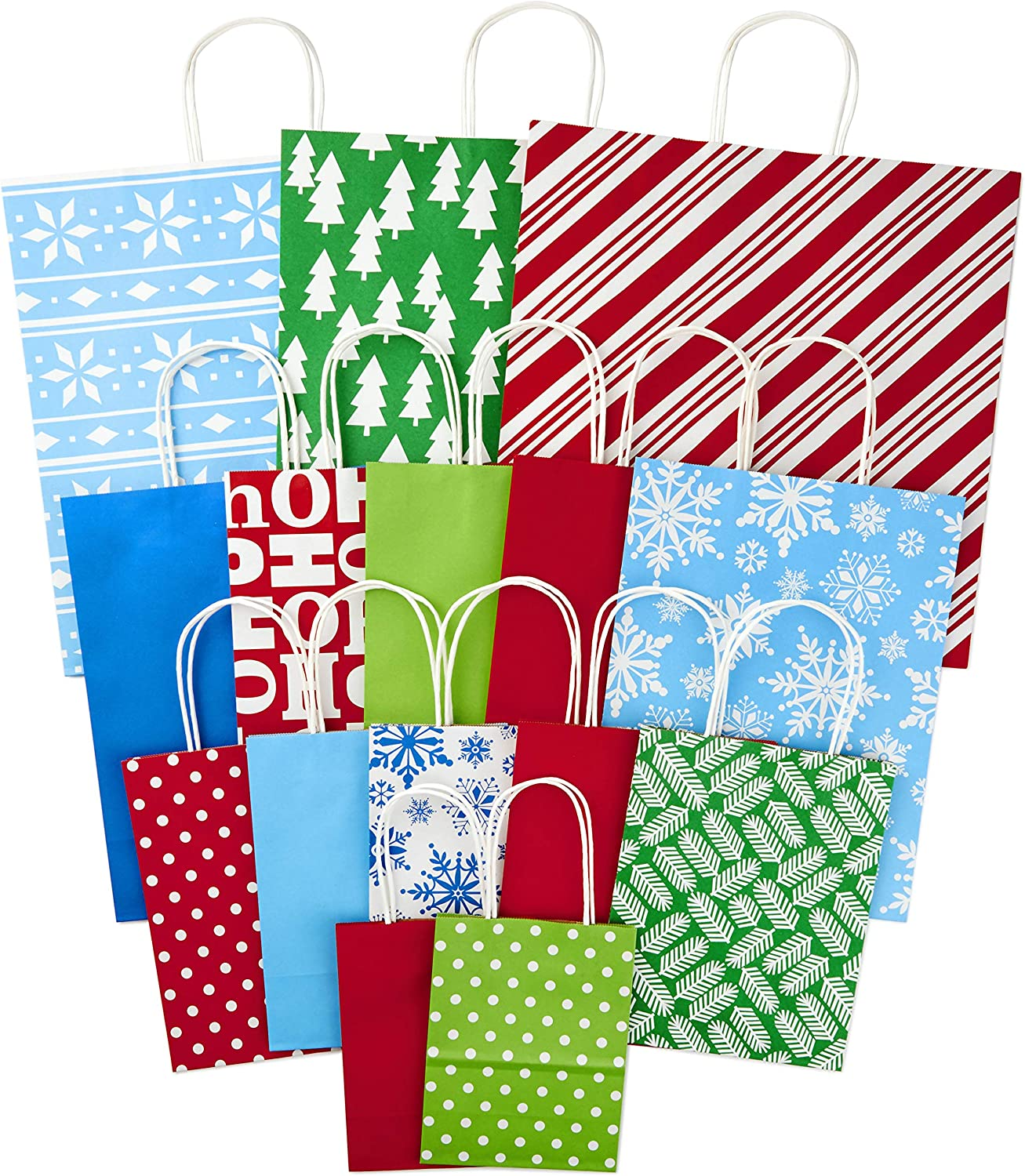 Hallmark Expressions Lot of 6 Gift Card Holder w// Tissue Christmas Gift Bag NEW