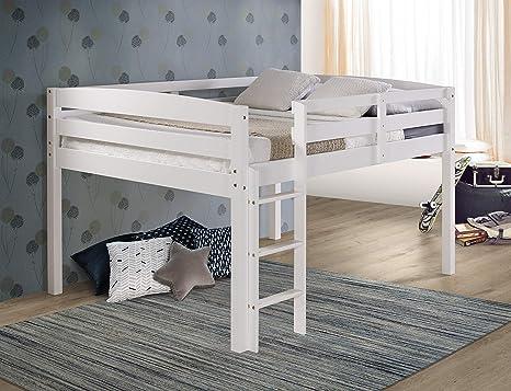 Amazon Com Concord Junior Loft Bed Full White Furniture Decor