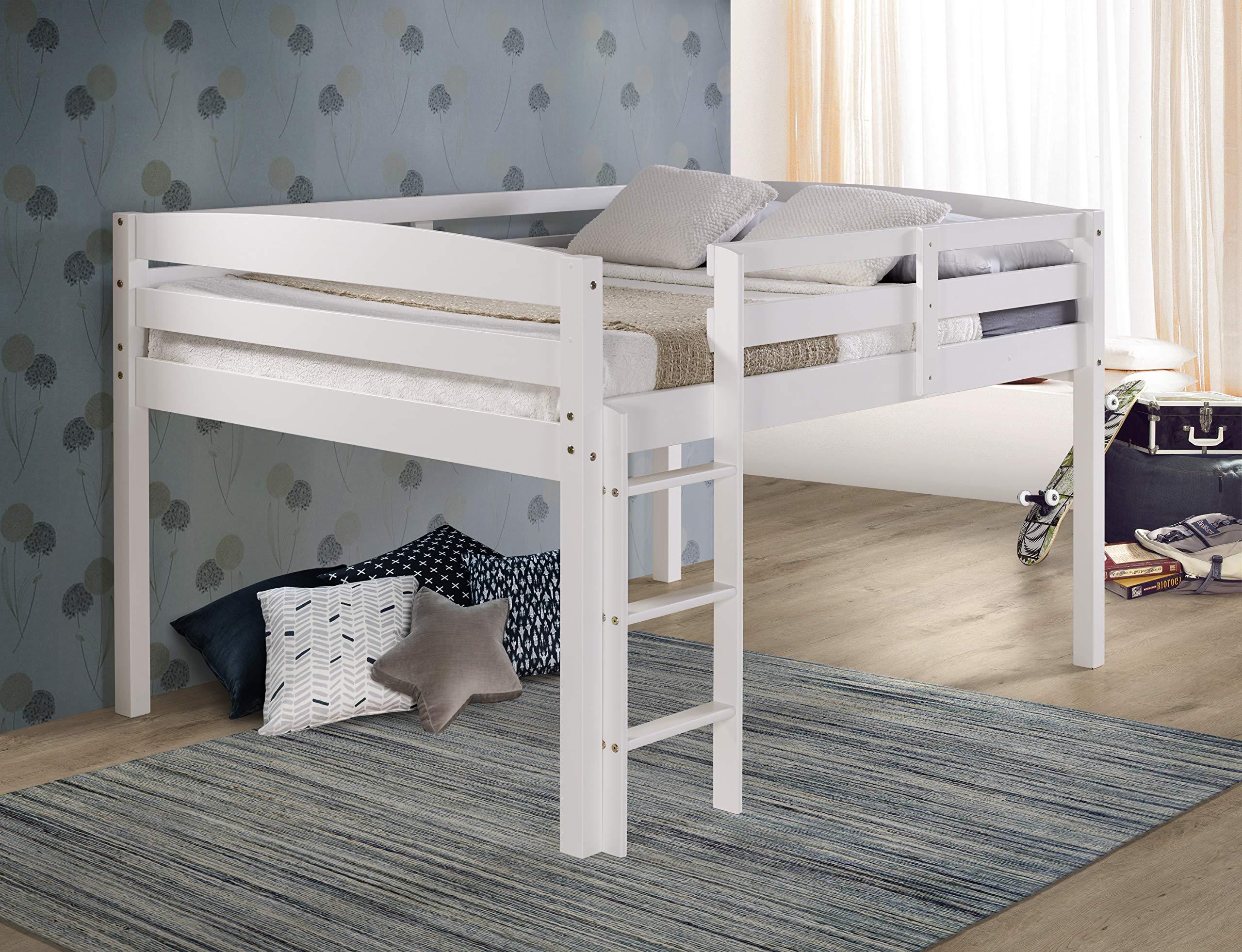 Concord T1303F Junior Loft Bed, Full, White