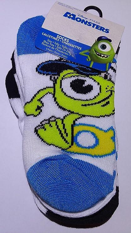 Disney Pixar Monsters University Set of 3 Anklet Child Socks - Sock (Size 6-