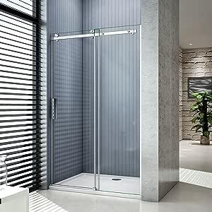 Aica Italy - Cabina de ducha en nicho, con puerta deslizante, de cristal templado de 8 mm de grosor, antical, 195 cm de altura, transparente: Amazon.es: Bricolaje y herramientas