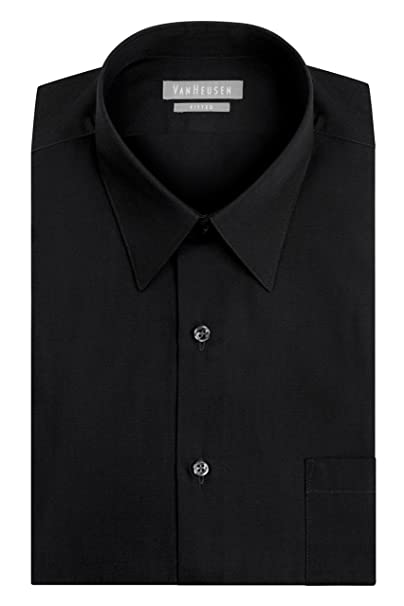 9c11bea0c25d8 Van Heusen Men s Dress Shirt Fitted Poplin Solid at Amazon Men s ...