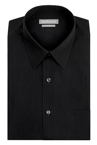 71e0cdda2a4 Van Heusen Men s Dress Shirt Fitted Poplin Solid at Amazon Men s ...