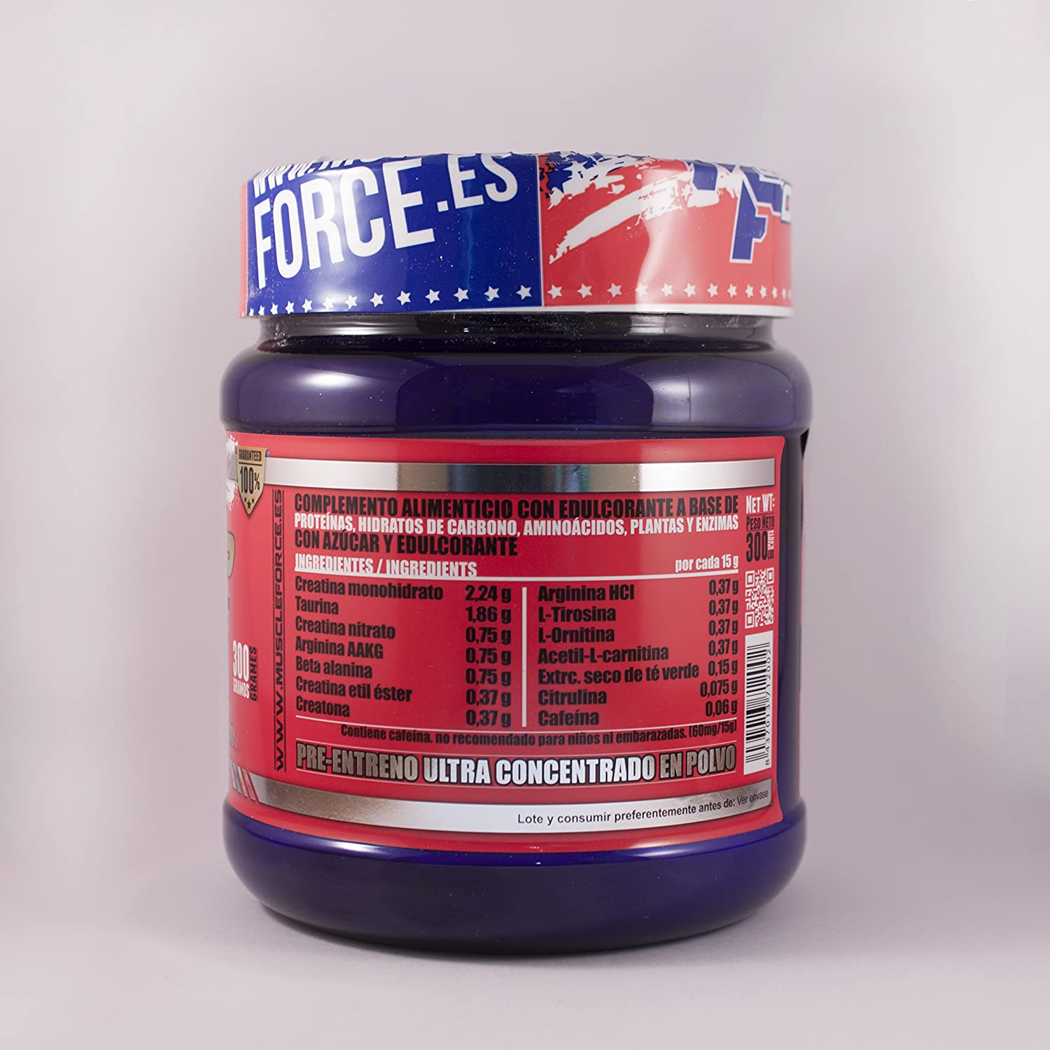 Pre entreno Pre Up Force 3.0 Peso: 300 gr Sabor: Frutas del bosque