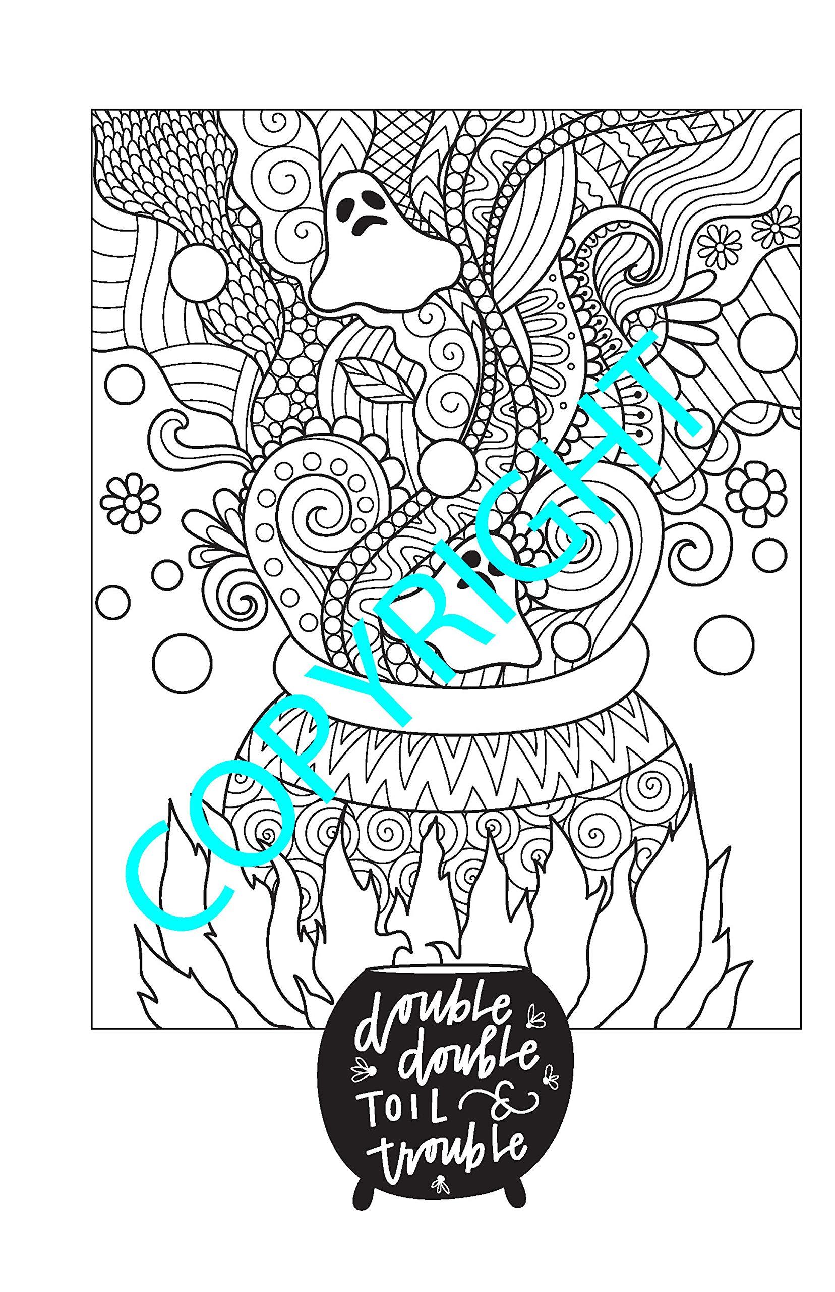Amazon.com: Happy Halloween Coloring Book: 32 Designs (Color on the ...