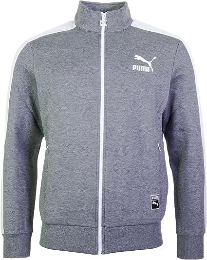 Puma T7 Track Jacket medium gray heather, Größe:XXL