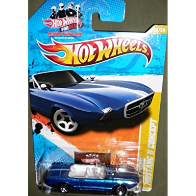 Hot Wheels 2011 New Models 14/50 Blue Convertible '63 Ford Mustang II Concept for Real Card 14/244: Toys & Games