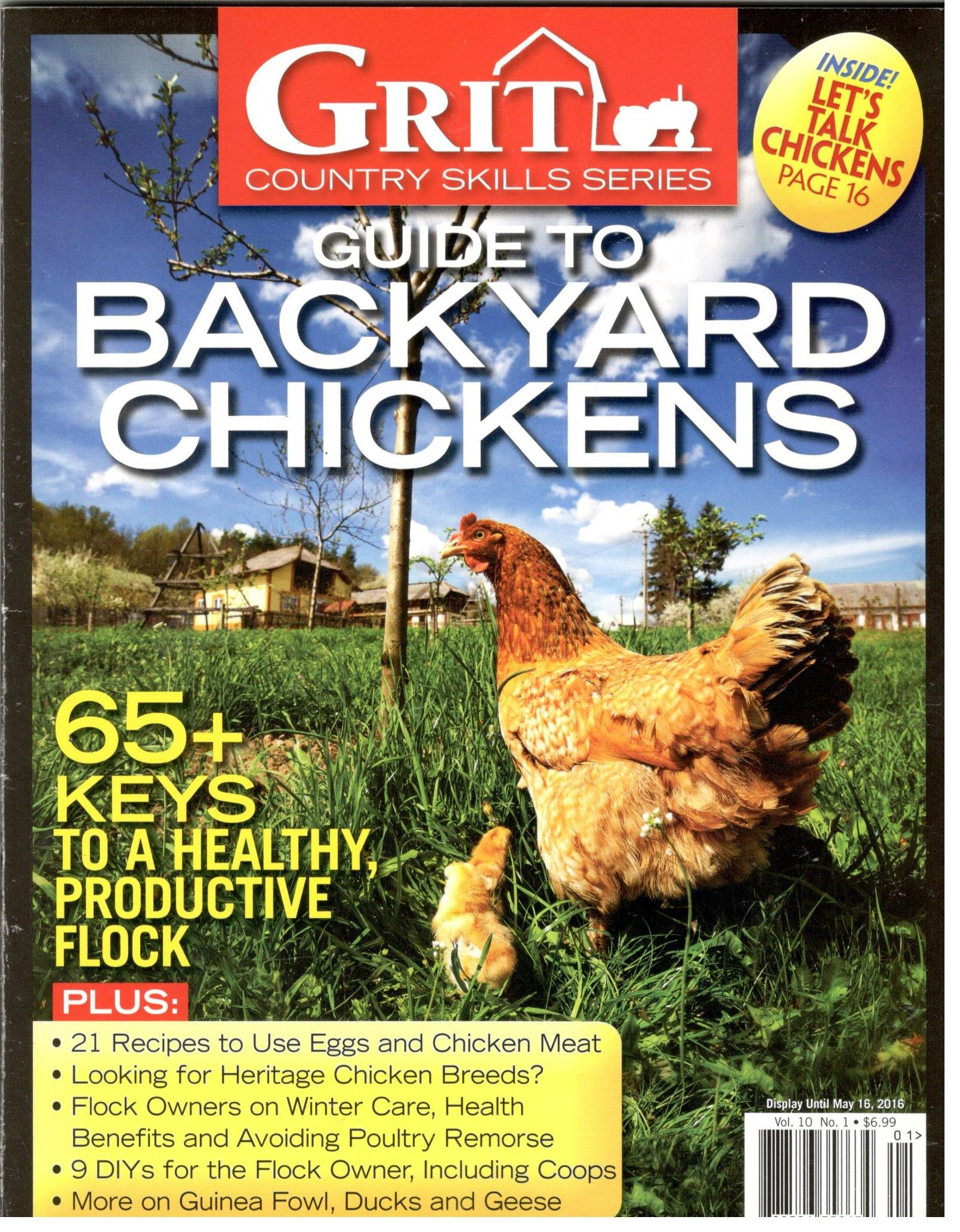 Read Online Grit Guide to Backyard Chickens Magazine 2016 pdf epub