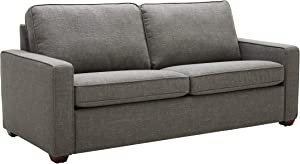 """Amazon Brand – Rivet Andrews Contemporary Sofa with Removable Cushions, 82""""W, Dark Grey"""