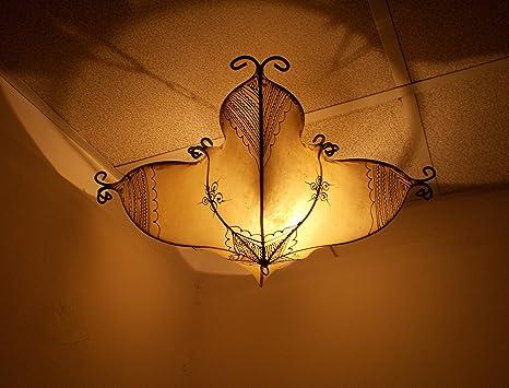 Plafoniere Con Lampade A Vista : Lampadario etnico marocchino plafoniera lampada lanterna pelle