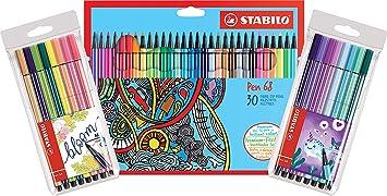 Premium Filzstift Stabilo Pen 68 30er Pack Mit 30 Verschiedenen Farben Premium Filzstift Stabilo Pen 68 2 X 8er Pack Sondersortierung Bürobedarf Schreibwaren