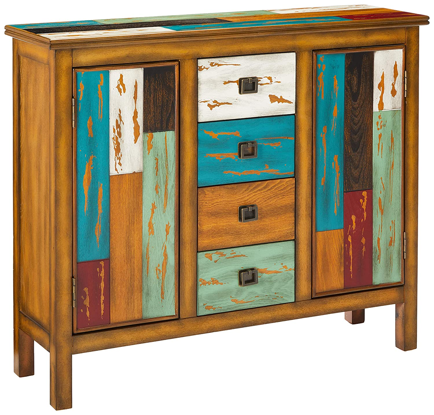 Amazon.com: Great Deal Furniture | Delaney | Antique Distressed Wood  Storage Cabinet | in Multicolor: Home & Kitchen - Amazon.com: Great Deal Furniture Delaney Antique Distressed Wood