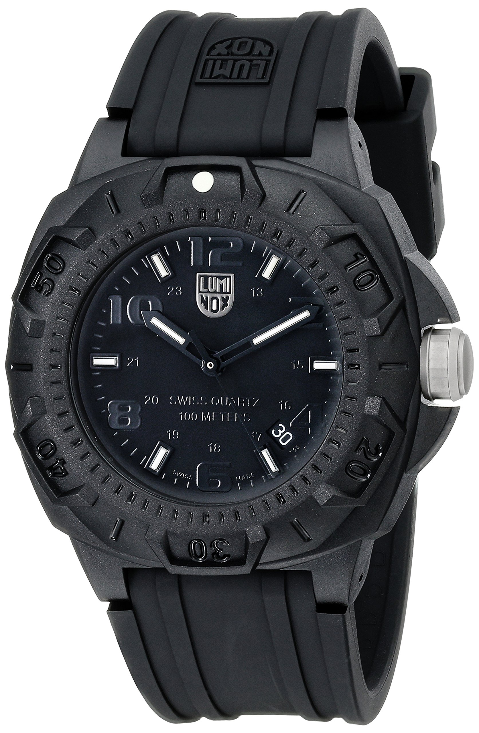 Luminox Men's 0201.BO Sentry 0200 Blackout With Rubber Band Watch