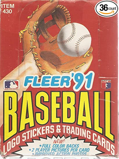 1991 Fleer Baseball Cards Box
