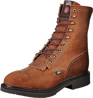 Amazon.com | Justin Original Work Boots Men's J-Max Steel Toe Work ...