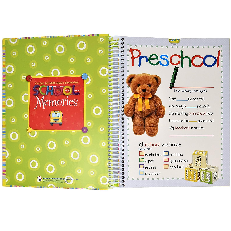 Amazon School Memory Book Album Keepsake Scrapbook Kids
