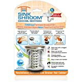 SinkShroom Revolutionary Bathroom Sink Drain Protector Hair Catcher, Strainer, Snare, Nickel Edition