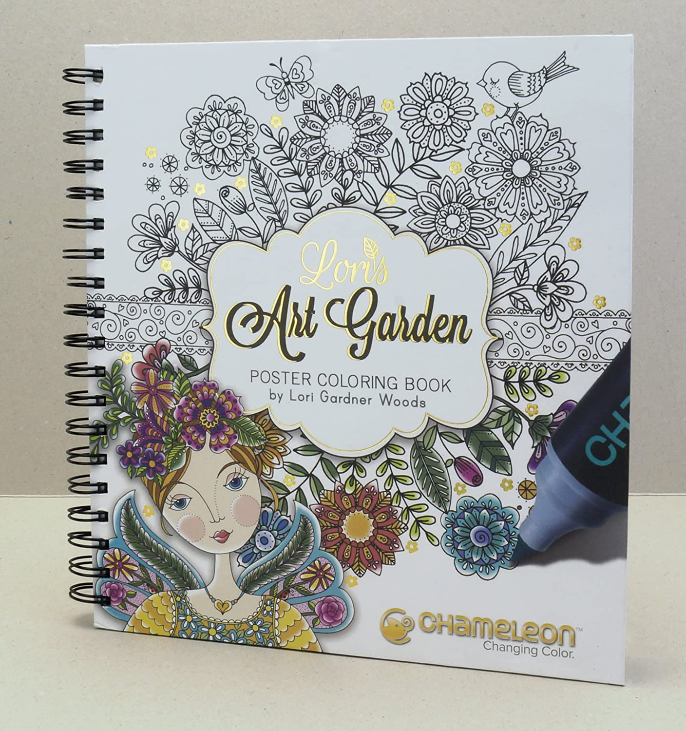 Chameleon CHM02205 Coloring Book Lori's Art Garden Coloring BK Chameleon Art Products CC0501