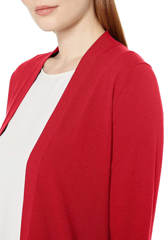 Lark /& Ro Lightweight Long Sleeve Mid-Length Cardigan Femme