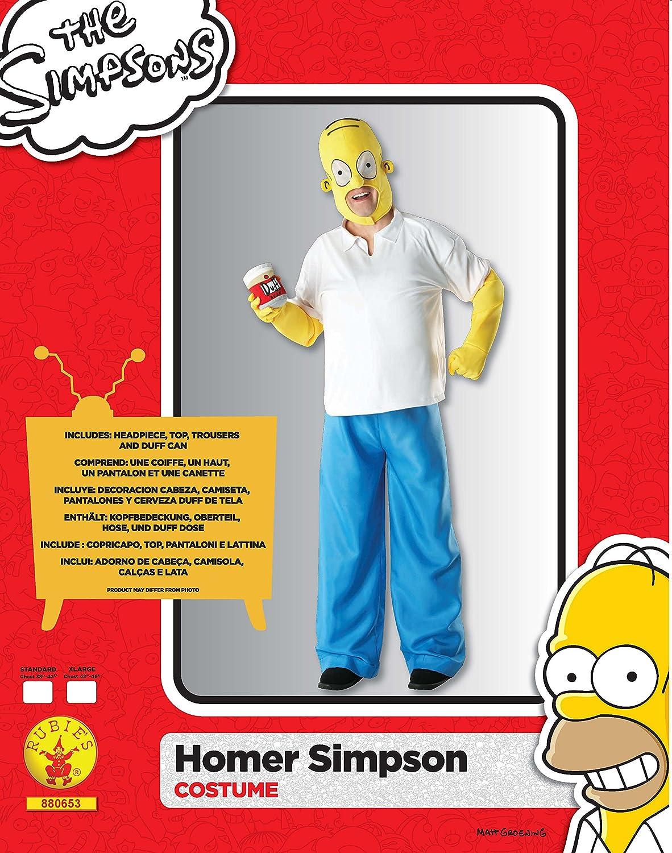 Los Simpson I-880653XL - Disfraz de Homer (talla XL de adulto): Amazon.es: Juguetes y juegos
