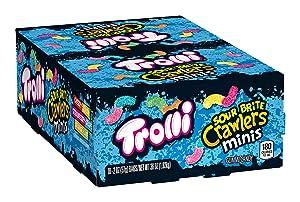 Trolli Sour Brite Mini Crawlers Gummy Worms, 2 Oz Bag (Pack Of 18)