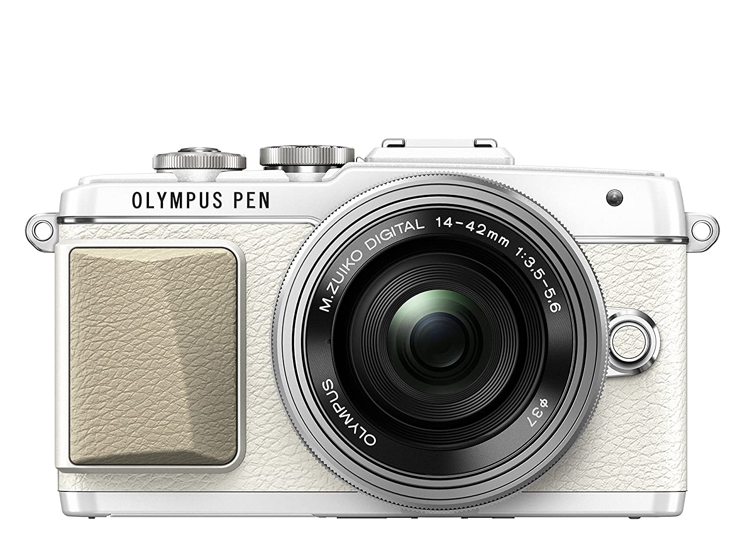 Olympus PEN E-PL7 Camera (White) with M.Zuiko Digital ED 14-42mm EZ Pancake Lens