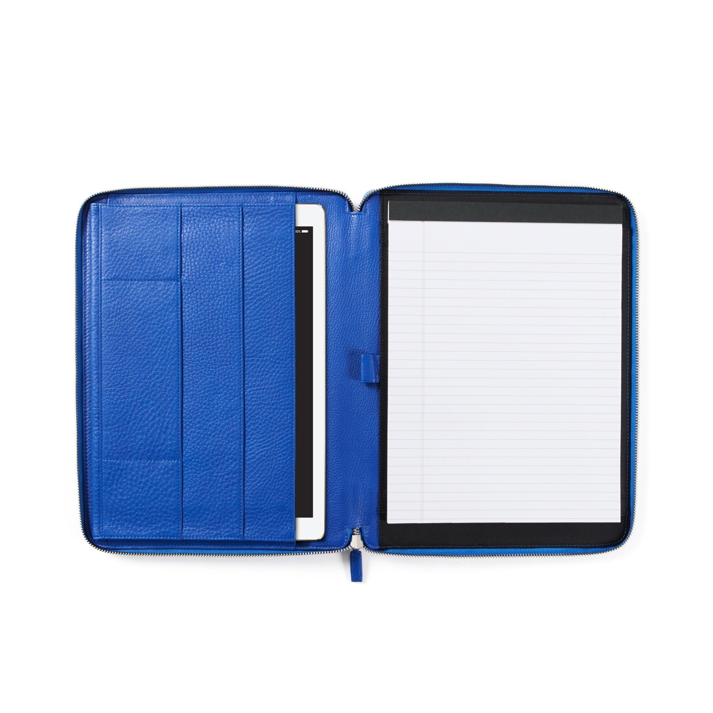 12.9 Inch Ipad Pro Portfolio - Full Grain Leather - Cobalt (blue)