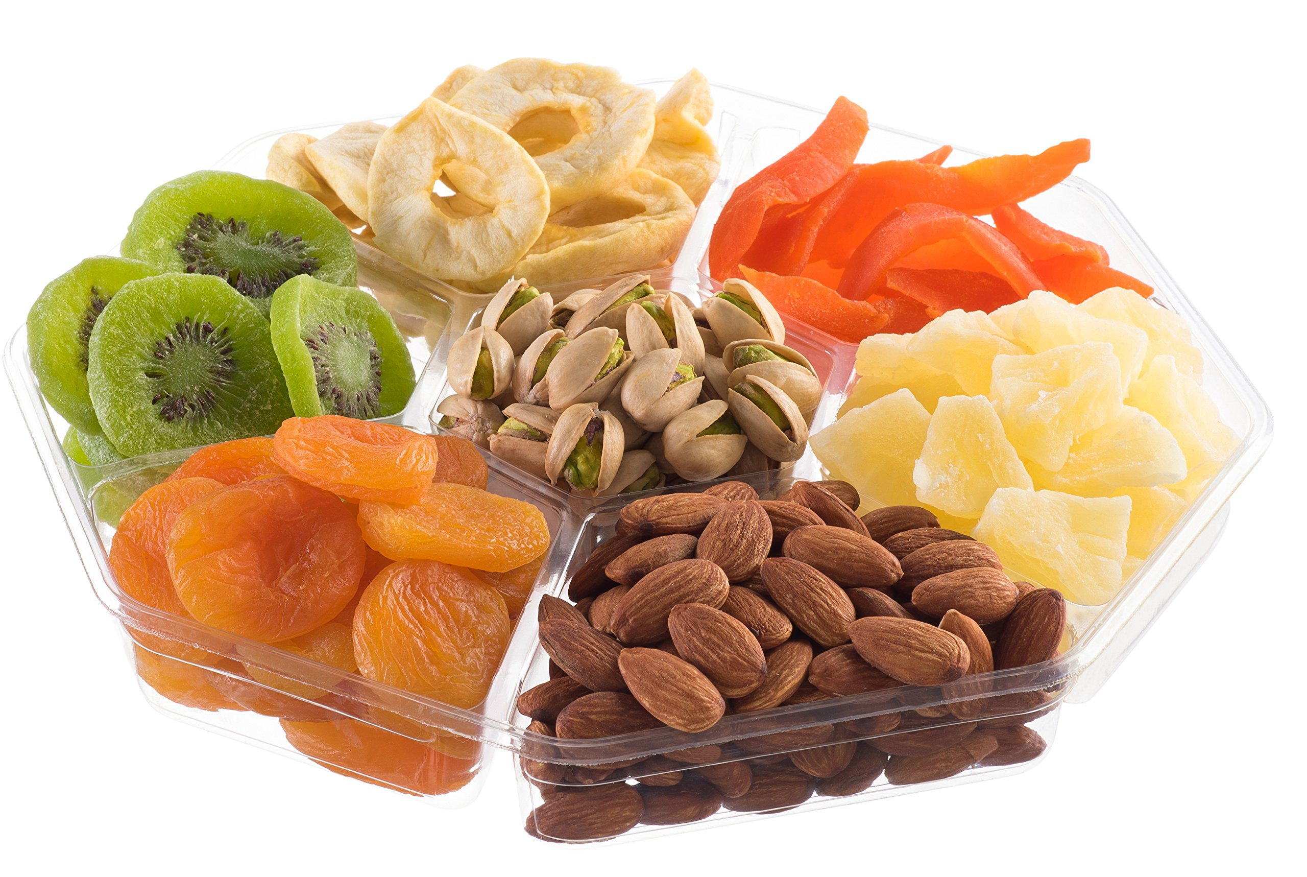 Nut Cravings Large Dried Fruit Prime Gift Basket | Variety Of 7-Section Gourmet Assorted Dried Fruit tray | Holiday Gift Assortment For Birthday - Sympathy - Get Well - Corporate Food Gift Box