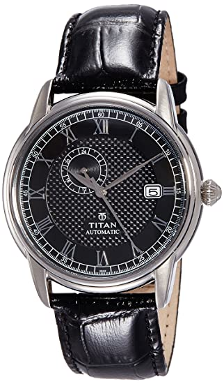 Titan Analog Black Dial Men's Watch - 90037SL01J Men's Watches at amazon