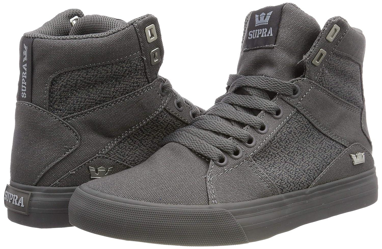 97c5e02a1c9a Amazon.com  Supra Aluminum Mens Gray Canvas High Top Lace up Sneakers  Shoes  Shoes