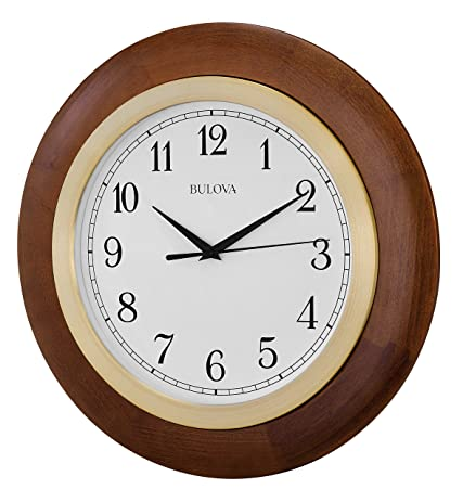 Amazoncom Bulova Carmel Large Wall Clock Home Kitchen