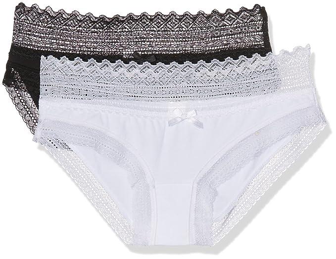 Dim Sexy, Braguita para Mujer, (Blanc/Noir), 36/38