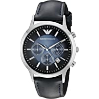 Emporio Armani Men's AR2473 Dress Blue Leather Watch
