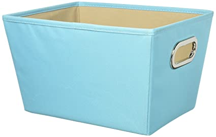 Genial Honey Can Do SFT 01992 Decorative Canvas Storage Bin, Sky Blue,